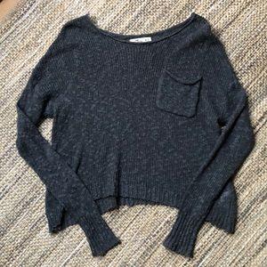 Hollister women's gray sweater